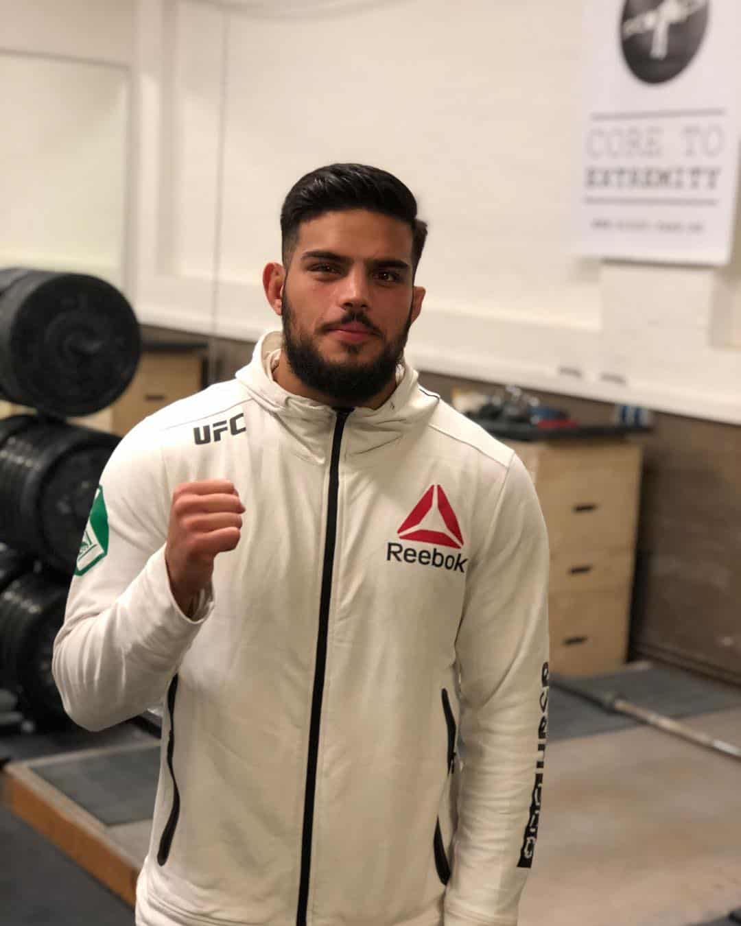 UFC-Fighter Nasrat Haqparast nach seinem Athletiktraining