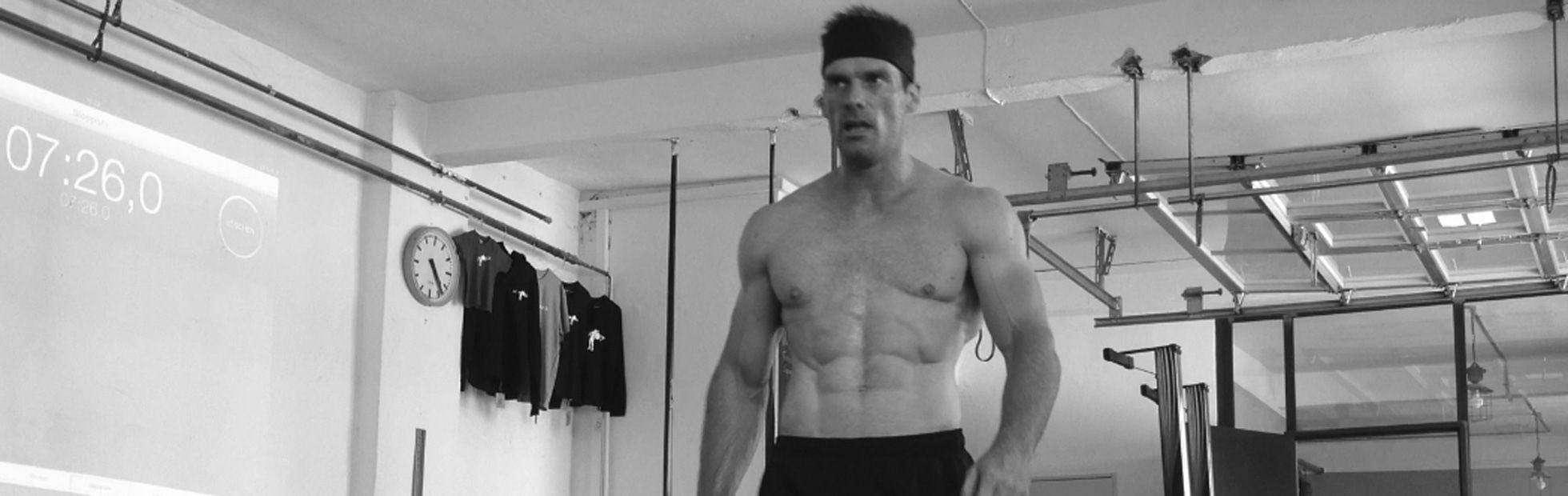 CrossFit Wettkampf-Athlet nach dem WOD